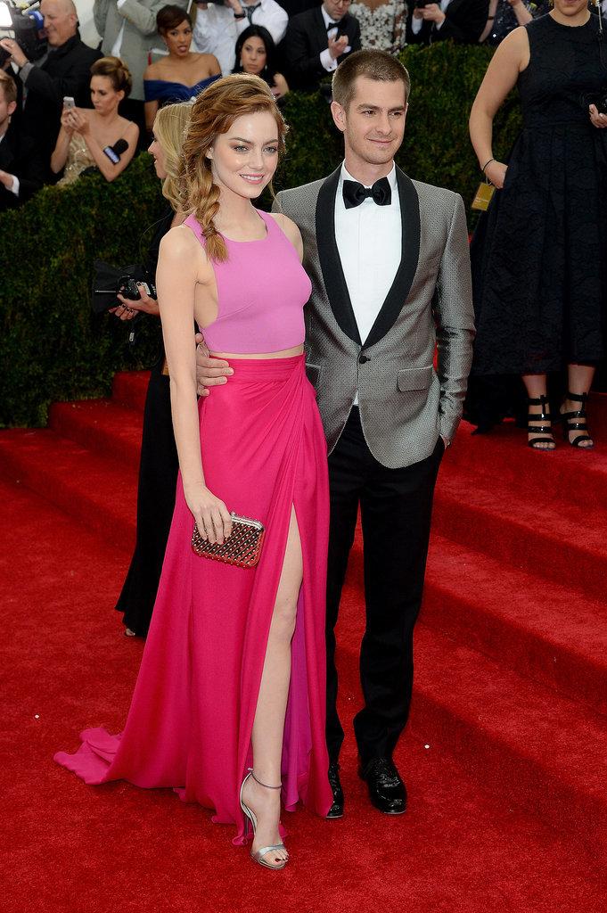 Эмма Стоун и Эндрю Гарфилд на Met Gala 2014