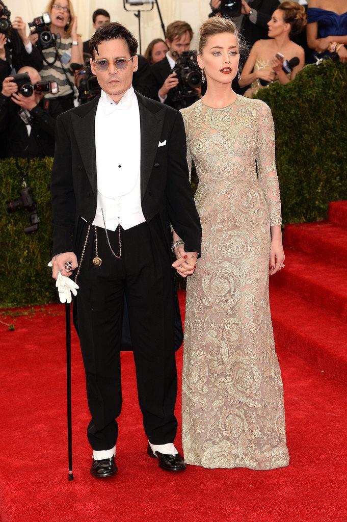 Джонни Депп и Эмбер Херд на Met Gala 2014