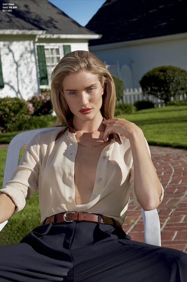 фотосессия рози хантингтон уайтли для v magazine