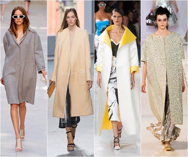 гладкие летние пальто oversize весна-лето 2014