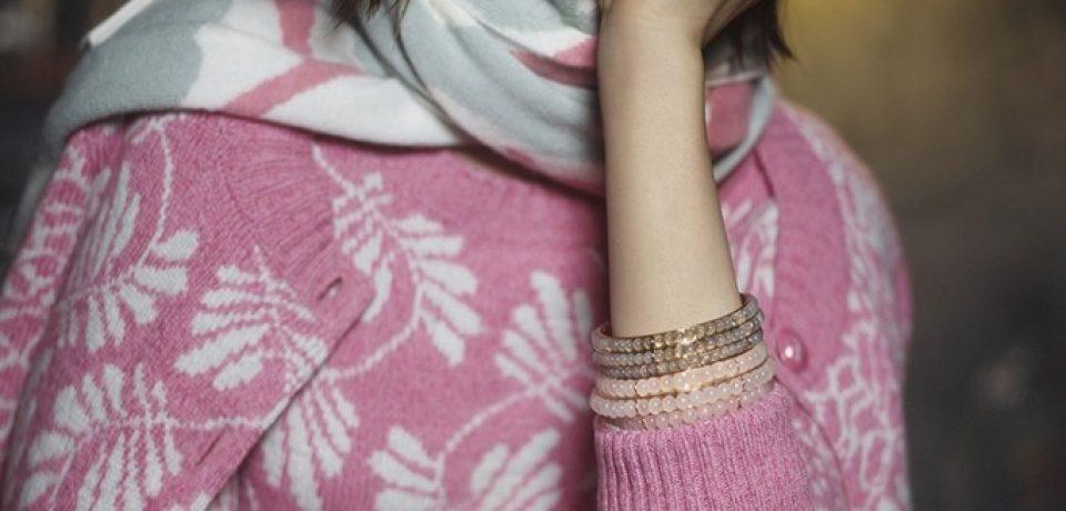 Лили Коллинз в рекламной кампании Barry Knitwear осень-зима 2014