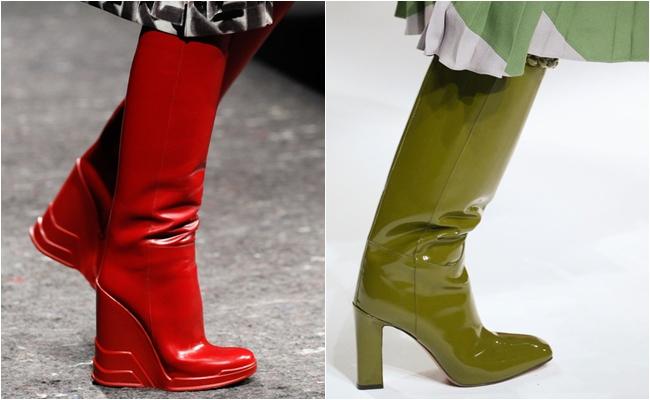 Блестящая обувь осень-зима 2014-2015