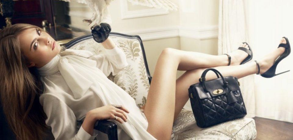 Кара Делевинь в рекламной кампании Mulberry