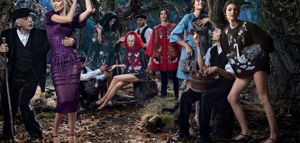 Клаудия Шиффер в рекламной кампании Dolce&Gabbana осень-зима 2014-2015