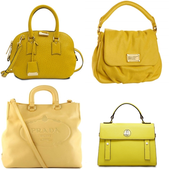 брендовые желтые сумки из натуральной кожи фото