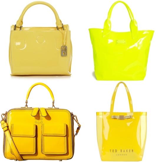 желтые сумки из лакированной кожи фото