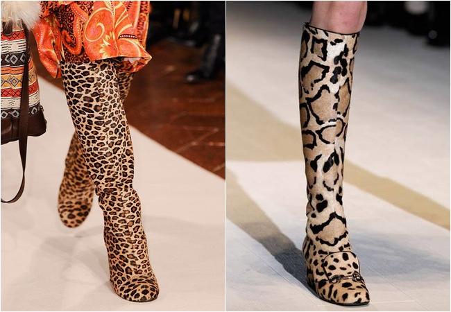 леопардовые сапоги осень-зима 2014-2015