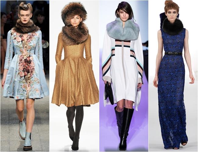 горжетки и меховые шарфы осень-зима 2014-2015