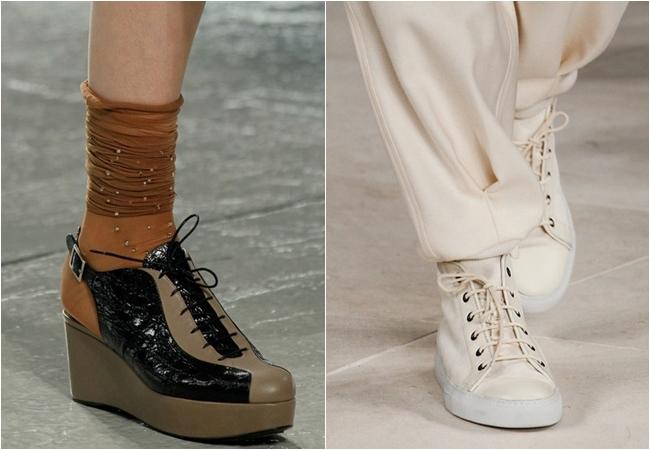 Ботинки, сапоги и ботильоны со шнуровкой осень-зима 2014-2014
