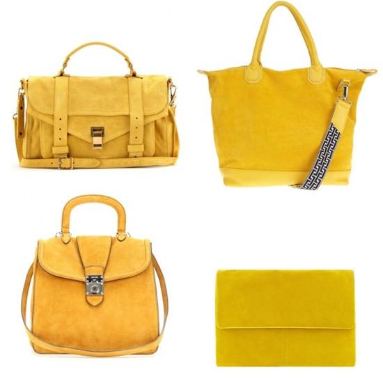 желтые сумки из замши фото