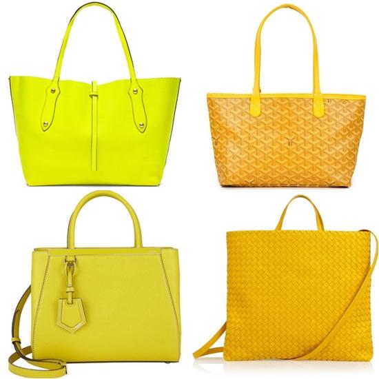 желтые сумки tote фото