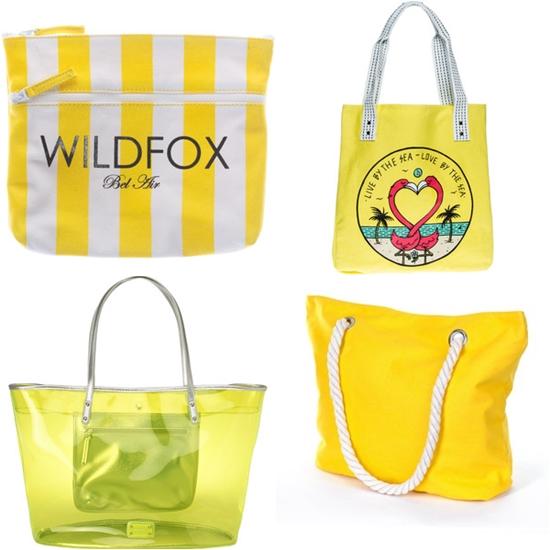 пляжные сумки желтого цвета фото