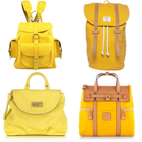 рюкзаки желтого цвета фото
