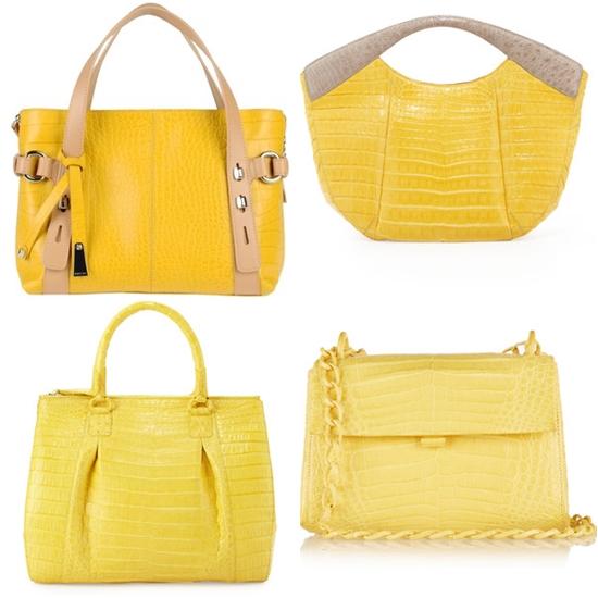 крокодиловые желтые сумки фото