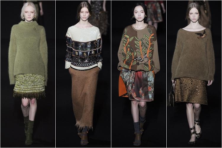 трикотаж и юбки коллекция alberta ferretti осень-зима 2014-2015