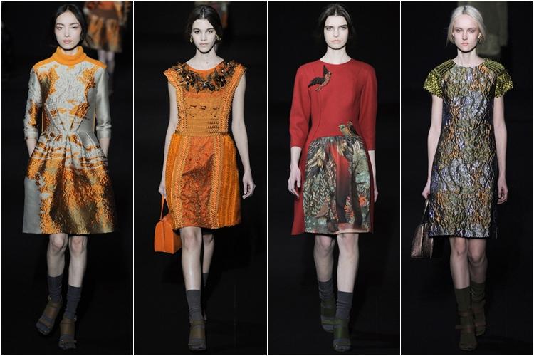 короткие платья коллекция alberta ferretti осень-зима 2014-2015 (1)