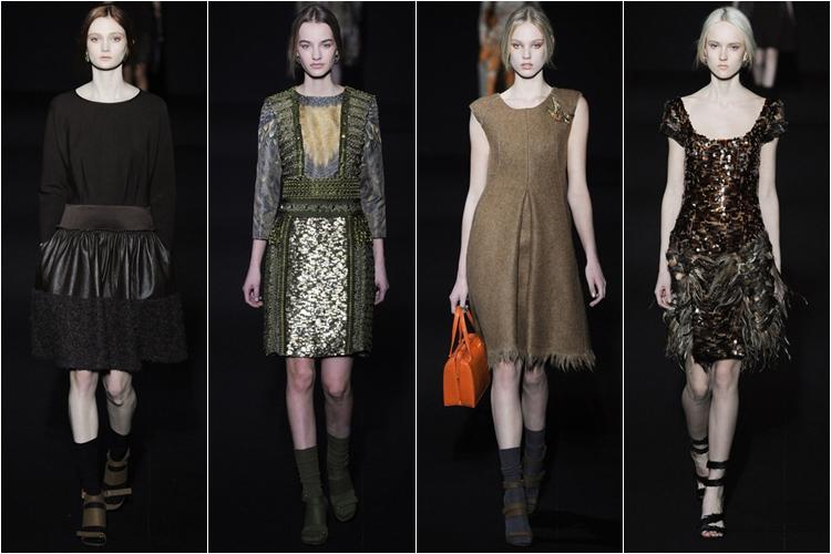 платья коллекция alberta ferretti осень-зима 2014-2015
