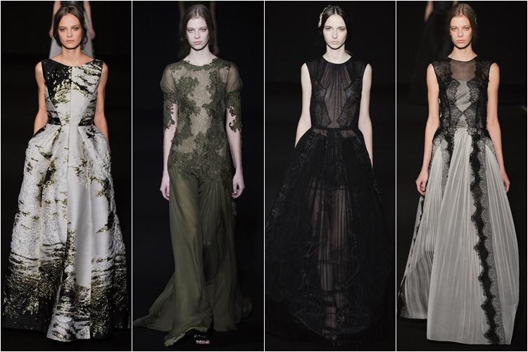 длинные вечерние платья коллекция alberta ferretti осень-зима 2014-2015