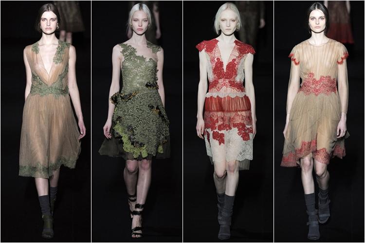 короткие вечерние коктейльные платья коллекция alberta ferretti осень-зима 2014-2015