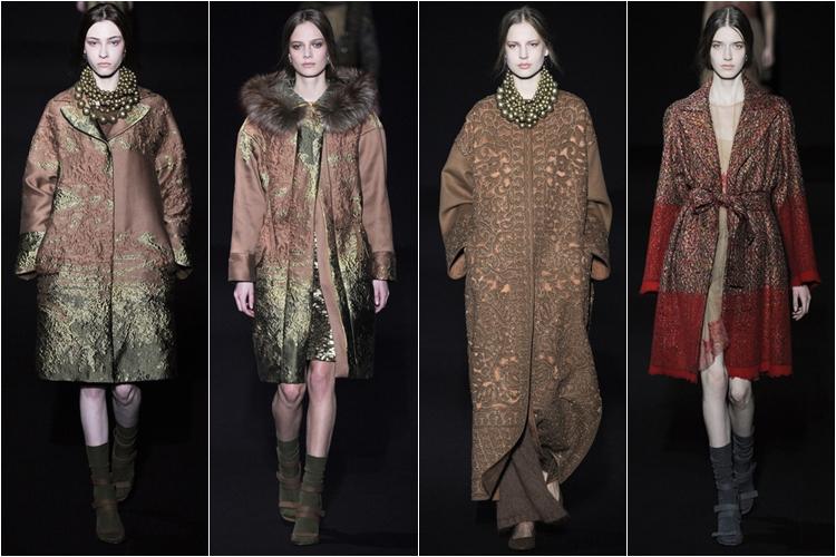 пальто коллекция alberta ferretti осень-зима 2014-2015