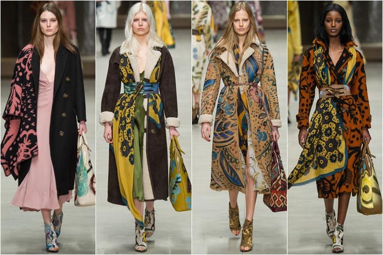 пальто и дубленки коллекция Burberry Prorsum осень-зима 2014-2015
