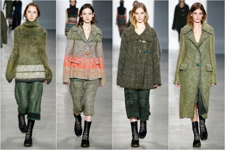 трикотаж и шерсть пальто коллекция calvin klein collection осень-зима 2014-2015