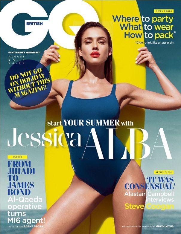 фотосессия джессики альы для британского GQ август 2014
