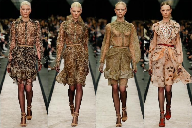 платья с принтом коллекция givenchy осень-зима 2014-2015