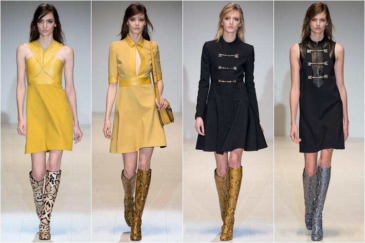 пальто и платья коллекция gucci осень-зима 2014-2015