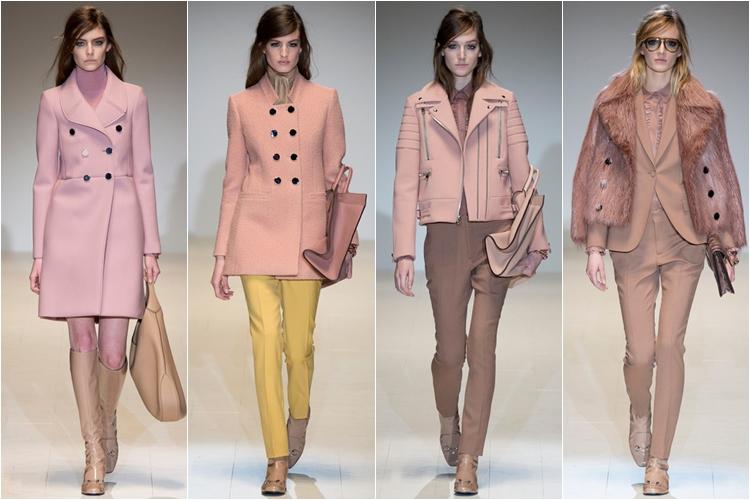 розовые пальто коллекция gucci осень-зима 2014-2015