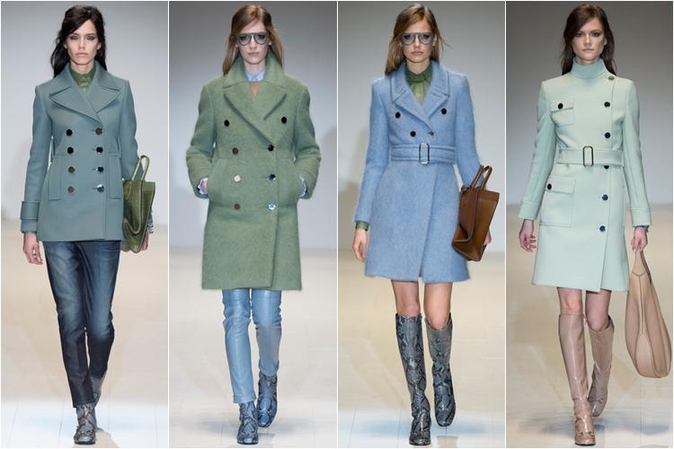 классические короткие пальто коллекция gucci осень-зима 2014-2015