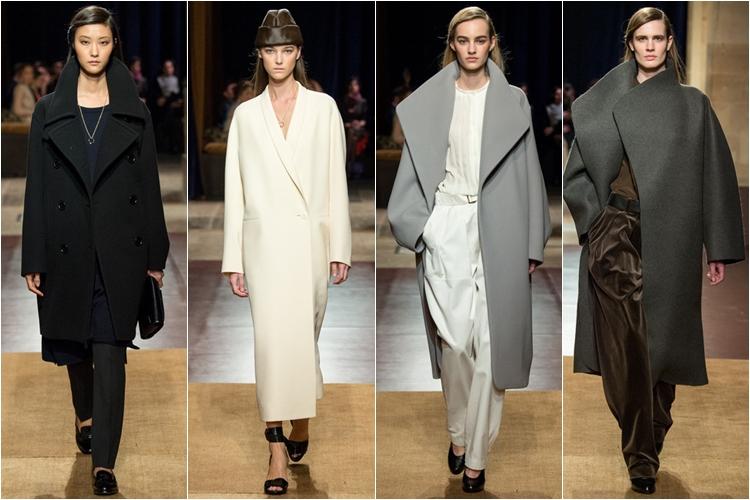 гладкий пальто широкие oversize коллекция hermes осень-зима 2014-2015