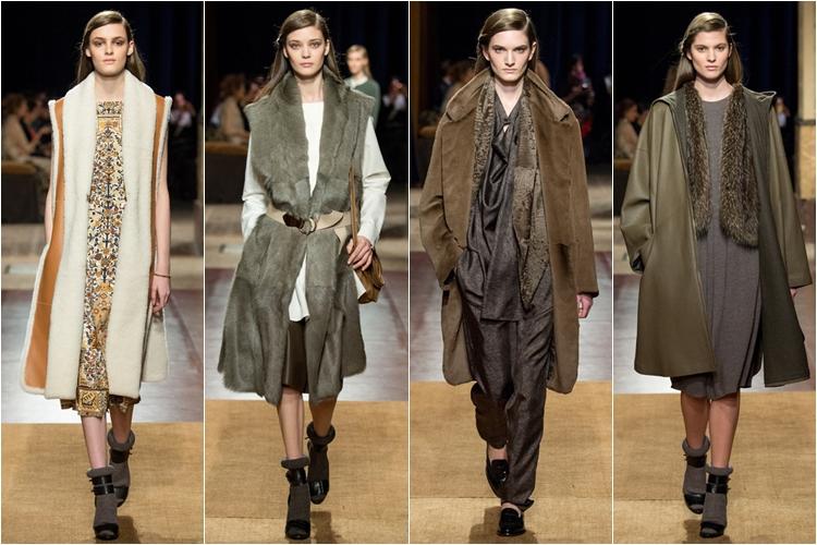 пальто и безрукавки коллекция hermes осень-зима 2014-2015
