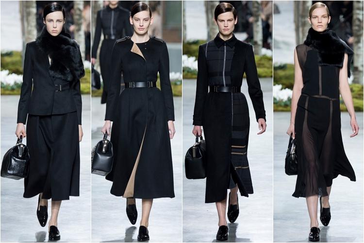 черные пальто коллекция hugo boss осень-зима 2014-2015