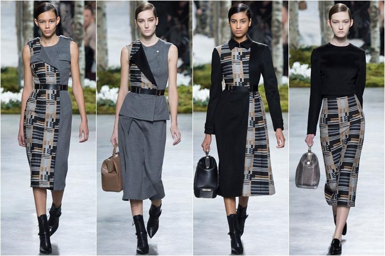 черные с принтом платья и юбки коллекция hugo boss осень-зима 2014-2015
