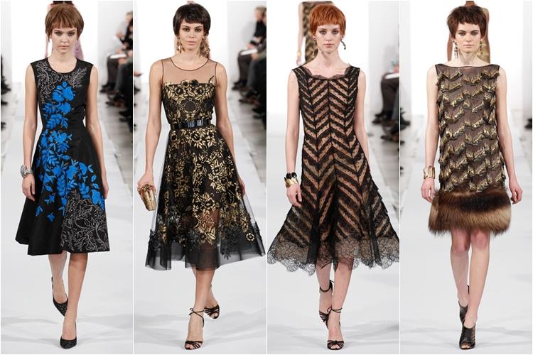 коктейльные платья коллекция Oscar de la Renta осень-зима 2014-2015