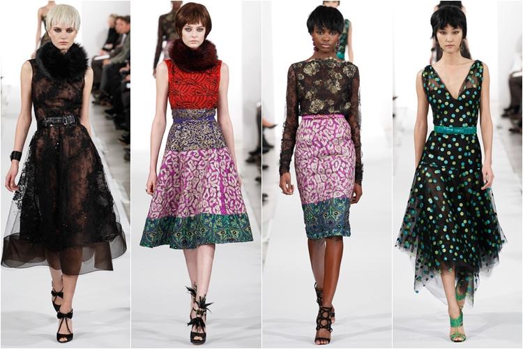 платья коллекция Oscar de la Renta осень-зима 2014-2015