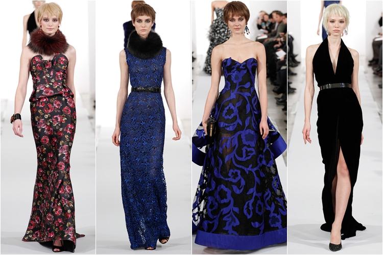 вечерние платья Коллекция Oscar de la Renta осень-зима 2014-2015