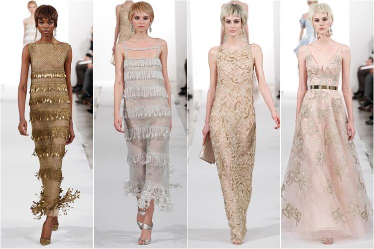 платья ретро Коллекция Oscar de la Renta осень-зима 2014-2015