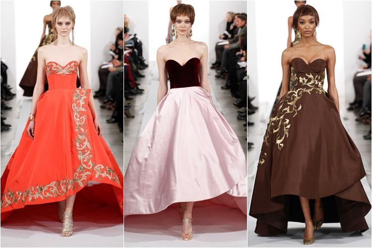 пышные вечерние платья коллекция Oscar de la Renta осень-зима 2014-2015