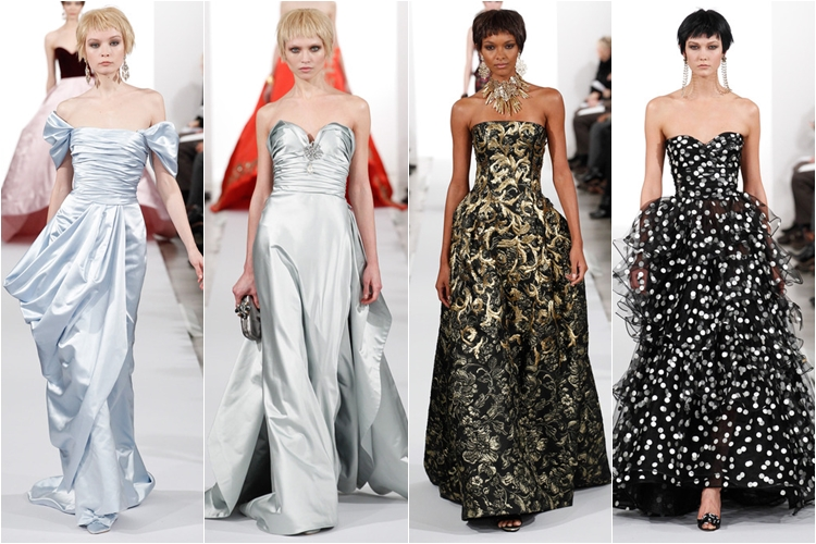 длинные платья коллекция Oscar de la Renta осень-зима 2014-2015