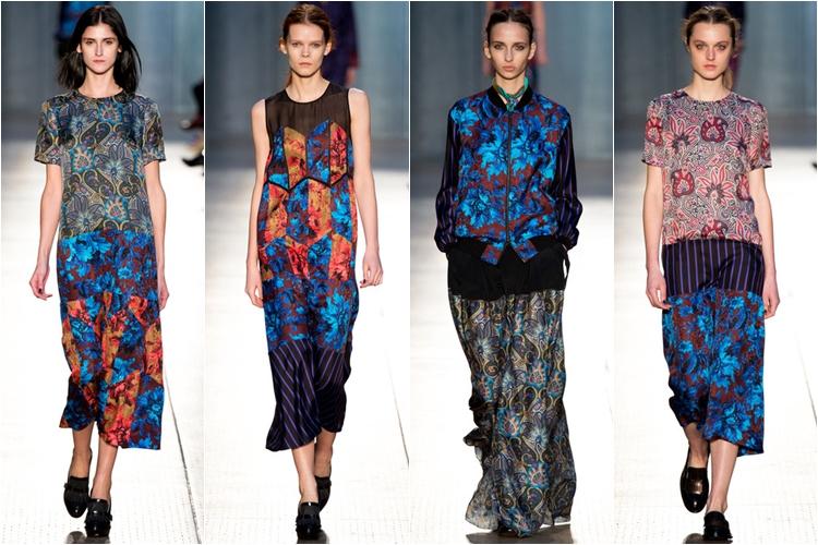платья с принтом коллекция paul smith осень-зима 2014-2015