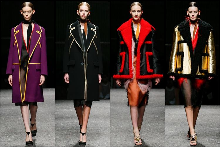 пальто и дубленки коллекция Prada осень-зима 2014-2015