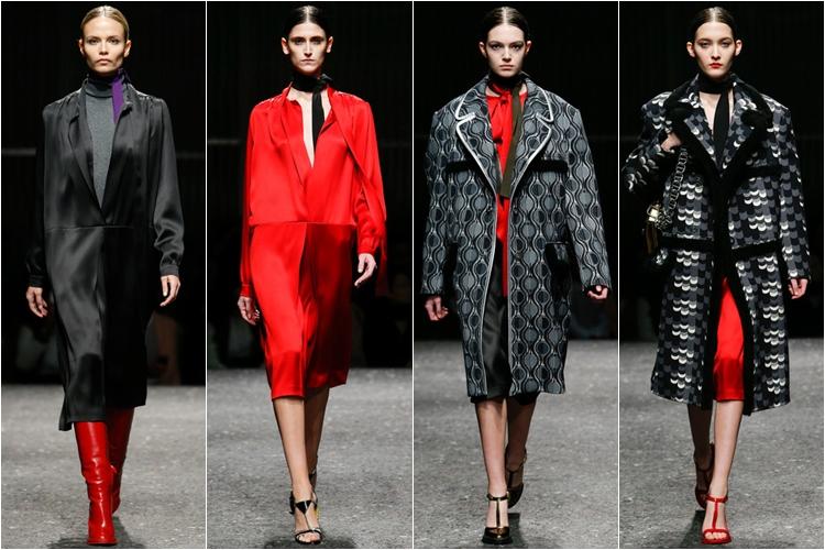 пальто коллекция Prada осень-зима 2014-2015