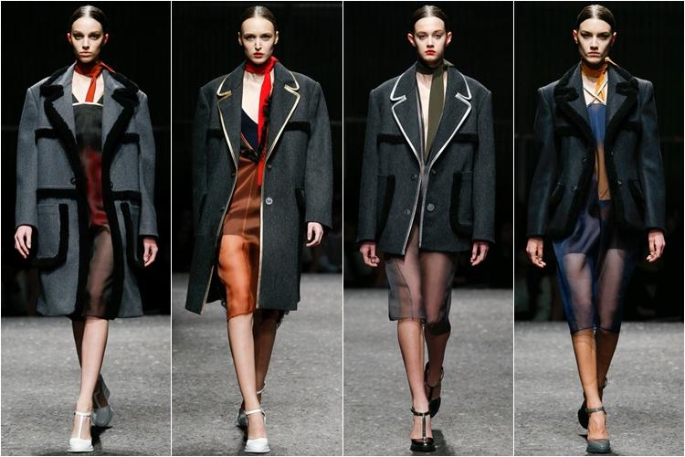 жакеты и пальто коллекция Prada осень-зима 2014-2015