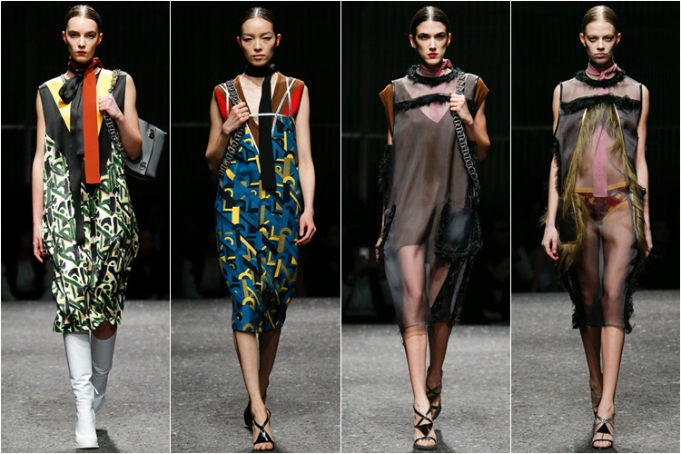платья коллекция Prada осень-зима 2014-2015
