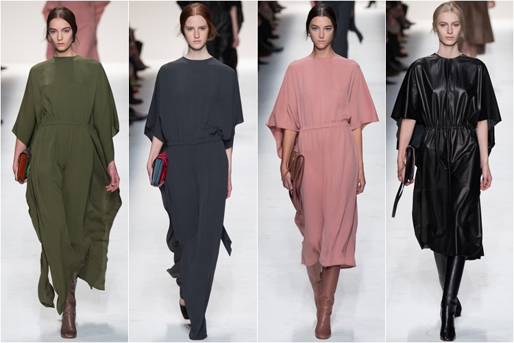 гладкие минималистичные свободные платья коллекция Valentino осень-зима 2014-2015
