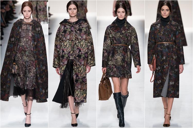узор пальто коллекция Valentino осень-зима 2014-2015
