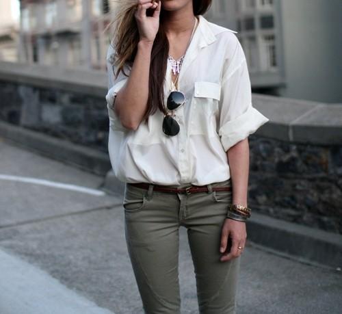 купить простую белую рубашку