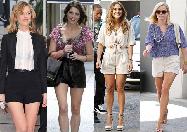 знаменитости в шортах